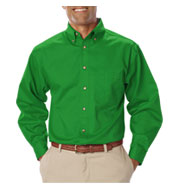 Custom Mens Long Sleeve Teflon Twill Shirt
