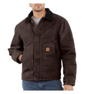 Custom Sandstone Traditional Jacket - Arctic Quilt Lined Mens