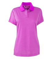 Custom Adidas Golf Ladies� ClimaLite® Classic Stripe Short-Sleeve Polo