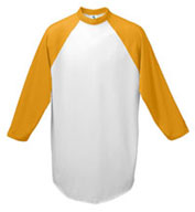 Custom Adult 3/4 Sleeved 50/50 Raglan Sleeve Shirt Mens