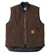 Custom Sandstone Vest With Arctic Quilt Lining Mens