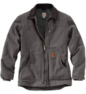 Custom Carhartt Sandstone Ridge Coat/Sherpa Lined Mens