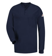 Custom Longsleeve Henley Shirt Mens