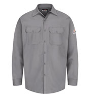 Custom Button Front Work Shirt Mens