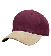 Custom 2-Tone Brushed Twill Cap with Suede Visor, Button and Closure