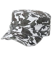 Custom Camouflage Superior Garment Washed Cotton Twill Distressed Visor Military Style Cap