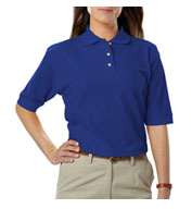 Custom Ladies Teflon Treated Pique Polo NO Pocket