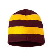 Custom Sportsman Rugby Striped Knit Beanie