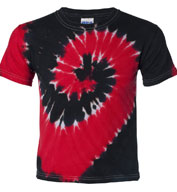 Custom Tie-Dyed Two-Color Spiral Short Sleeve T-shirt