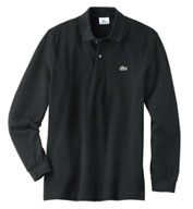 Custom Lacoste Mens Classic Pique Long  Sleeve Polo