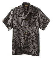 Custom South Seas Leaf Print Camp Shirt