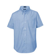 Custom French Toast Boys Short Sleeve Oxford Shirt