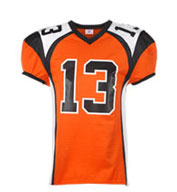 Custom Youth Red Zone Steelmesh Football Jersey
