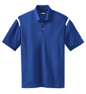 Custom NIKE GOLF - Dri-FIT Shoulder Stripe Sport Shirt Mens