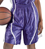 Custom Womens eXtreme Dazzle Reversible Game Basketball Short by Alleson