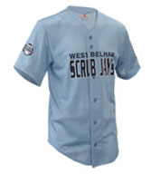Custom Adult Fencebuster Solid Full Button Jersey Mens