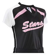 Custom Ladies Performance Contoured Raglan Sleeve Jersey by Russell Athletic