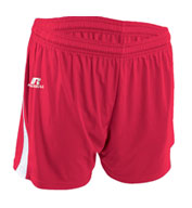 Custom Womens Low Rise Performance Softball Shorts by Russell Athletic