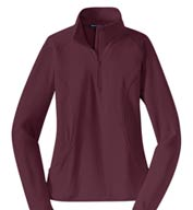Custom Ladies Sport-Wick® Stretch 1/2-Zip Pullover
