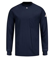 Custom Fire Resistant Knit Long Sleeve T-Shirt by Bulwark Mens