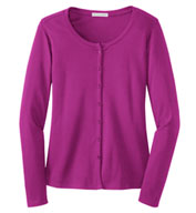 Custom Ladies Silk Touch� Interlock Cardigan