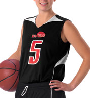 Custom Womens Reversible Basketball Jersey by Alleson