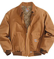 Custom Flame-Resistant Duck Bomber Jacket/Quilt-Lined Mens