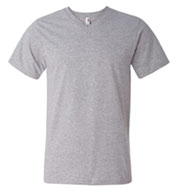 Custom Anvil Soft Spun Fashion Fit V-Neck T-Shirt Mens