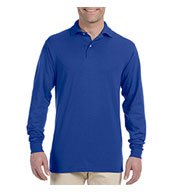 Custom Jerzees Long-Sleeve Jersey Polo with SpotShield� Mens