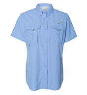 Custom Columbia Womens Bahama II Short Sleeve Fishing Shirt