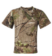 Custom Youth RealTree Camouflage Short Sleeve T-shirt by Code V