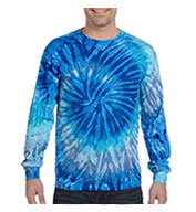 Custom 100% Cotton Long-Sleeve Spider Tie-dyed T-shirt