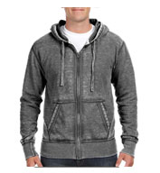 Custom J. America Vintage Zen Fleece Full-Zip Hooded Sweatshirt Mens