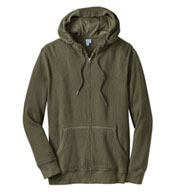 Custom Mens Thermal Full-Zip Hoodie Mens