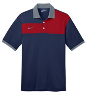 Custom Nike Golf Dri-FIT Sport Colorblock Polo Mens