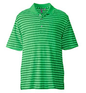 Custom Ashworth Mens Performance Interlock Stripe Polo