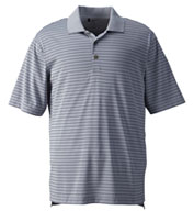 Custom Mens Adidas Golf ClimaLite Pencil Stripe Polo Mens