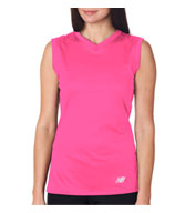 Custom New Balance Ladies Ndurance Athletic V-Neck Workout T-shirt