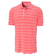 Custom Cutter & Buck Polo CB Drytec Hawthorne Stripe Polo Mens