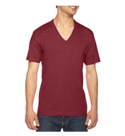 Custom American Apparel Fine Jersey Short Sleeve-V-Neck Tee Mens