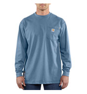 Custom Flame Resistant Force Cotton Long Sleeve T-shirt by Carhartt Mens