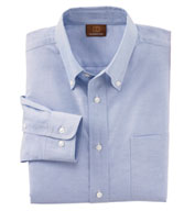 Custom Men�s Long Sleeve Oxford Shirt with Stain-Release Mens
