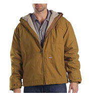 Custom Dickies Adult Sanded Duck Sherpa-Lined Hooded Jacket Mens