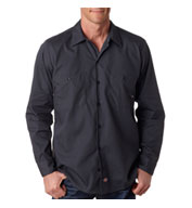 Custom Dickies Men�s Long-Sleeve Industrial Poplin Work Shirts