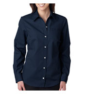 Custom Dickies Ladies Long-Sleeve Stretch Poplin Shirt