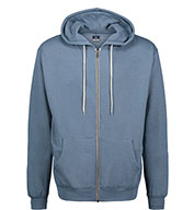 Custom Retro Heather Zip Hoodie Mens