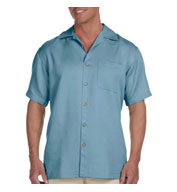 Custom Harriton Mens Bahama Cord Camp Shirt
