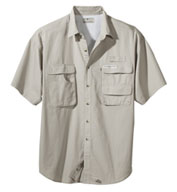 Custom Hook & Tackle Mens Gulf Stream Short-Sleeve Fishing Shirt