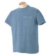 Custom Authentic Pigment Ringspun Pocket T-Shirt Mens