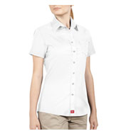 Custom Dickies Juniors Short Sleeve Button-Down Shirt